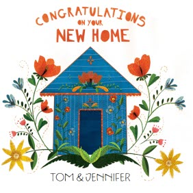 sunny flowers congrats on your new home card