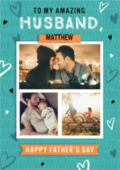 Amazing Husband Photo Upload Father's Day Card