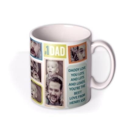 Bright Photo Collage Personalised Mug