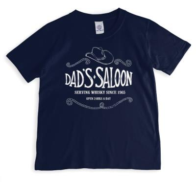 Father's Day Dad's Saloon Personalised T-shirt