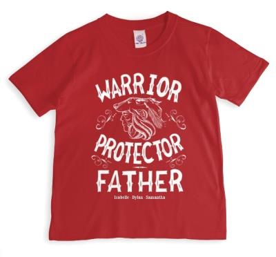 Father's Day Warrior Personalised T-shirt
