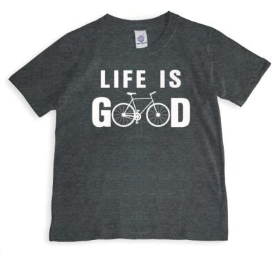 Life Is Good Bicycle Personalised T-shirt