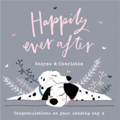 Disney 101 Dalmatians Happily Ever After Wedding Card