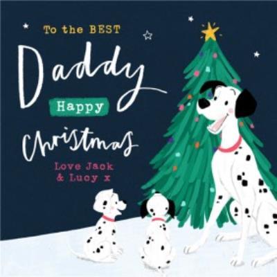 Disney 101 Dalmatians Best Daddy Christmas Card