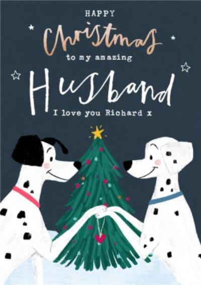 Disney 101 Dalmatians Amazing Husband Christmas Card