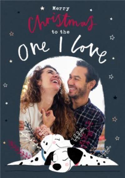 Disney 101 Dalmatians One I Love Photo Upload Christmas Card
