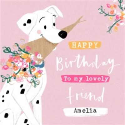 Disney 101 Dalmatians Lovely Friend Birthday Card