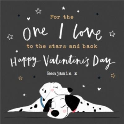 Disney 101 Dalmatians One I Love Valentine's Day Card