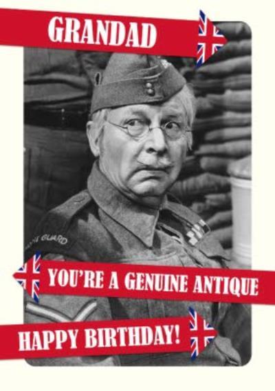 Retro Humour Dad's Army Grandad Birthday Card