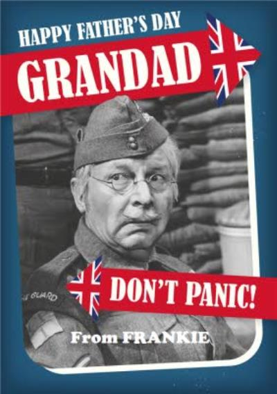 Retro Humour Dad's Army Don't Panic Father's Day Card