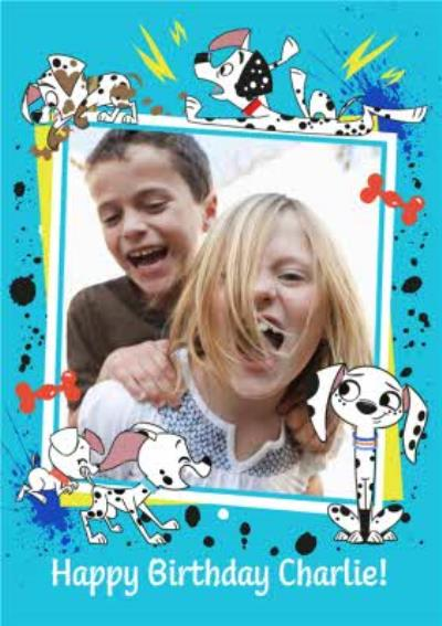 Disney 101 Dalmatian Street Kids photo upload birthday card