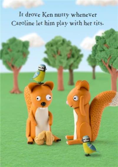 Squirrels Nutty Funny Personalised Happy Birthday Card