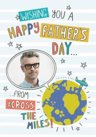 Typographic Wishing You A Happy Fathers Day From Across The Miles