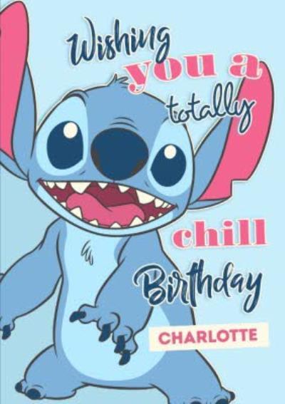 Disney Lilo And Stich Birthday Card