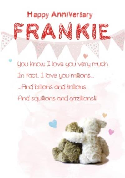 Love You Millions, Billions And Trillions Personalised Card