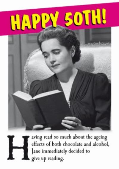 Retro Ageing Effects Personalised Happy 50th Birthday Card