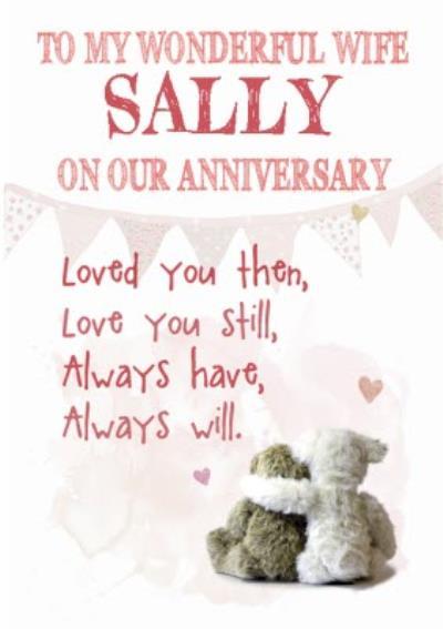 Anniversary Card - Sentimental - Love You - Wife