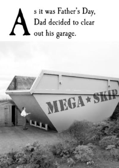 Personalised Mega Skip Father's Day Card