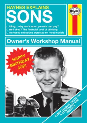 Haynes Explains Sons Birthday Photo Upload Card