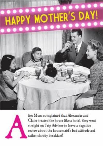 Big Headliner Happy Mothers Day Card
