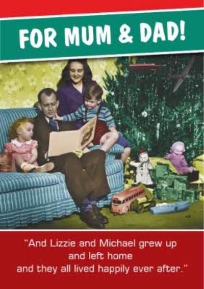 Vintage Family Personalised Christmas Card