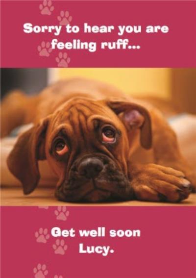 Get Well Soon Card - Sad Dog