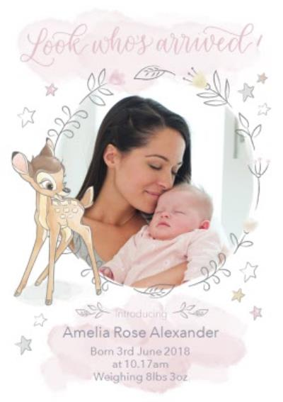 Disney Baby Bambi New Baby Photo Upload Card