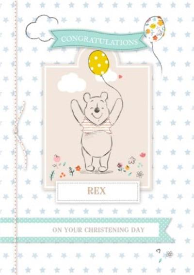 Disney Winnie The Pooh Congrats On Your Christening Card