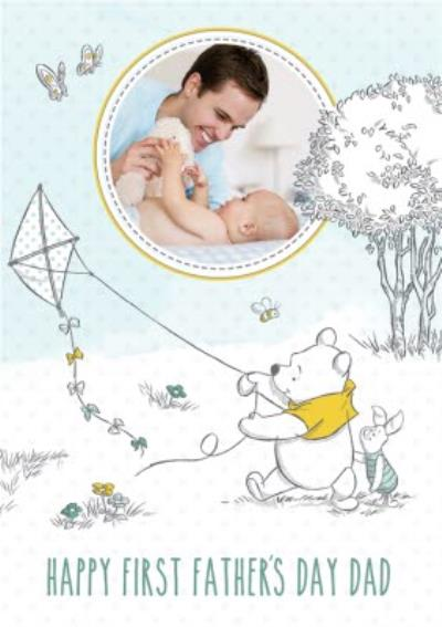 Disney Winnie The Pooh Happy First Father's Day Card
