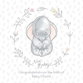 New Baby Cards Personalised New Baby Cards Moonpig