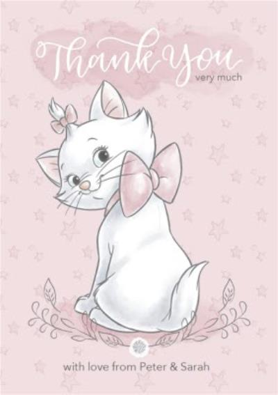Disney Baby Personalised Marie Thank You Card