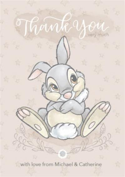 Disney Baby Personalised Thumper Thank You Card