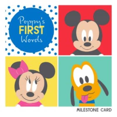 Disney Baby First Words Personalised Text Card