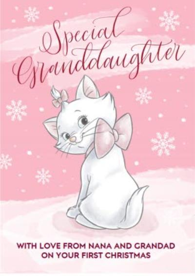 Disney Aristocats Granddaughter'S First Christmas Personalised Card