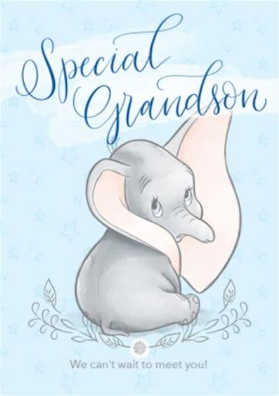 Disney Dumbo - Cute Grandson new baby card