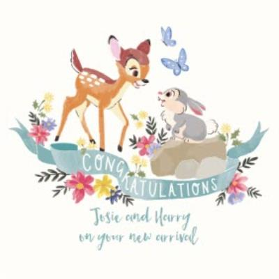 Disney Bambi - Cute congratulations card - New baby
