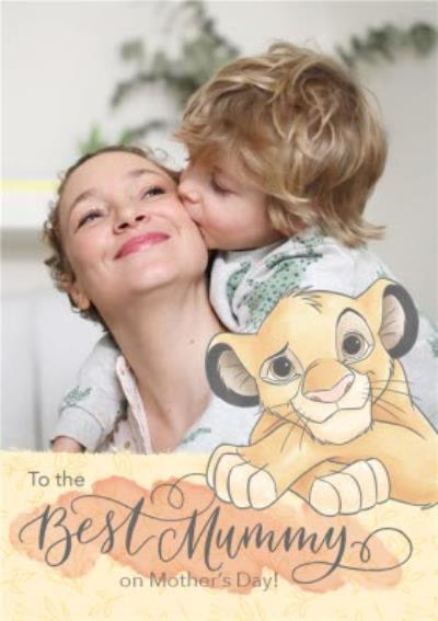 Disney The Lion King Best Mummy Mother's Day Photo Card
