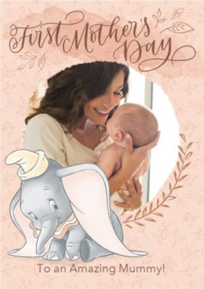 Disney Dumbo Happy First Mother's Day Photo Card