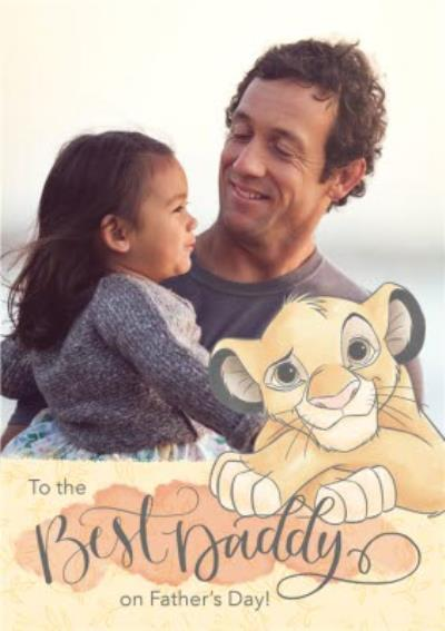 Disney Baby Simba To The Best Daddy On Father's Day Photo Card