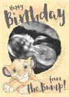 Lion King Simba Birthday Card From the bump Photo upload
