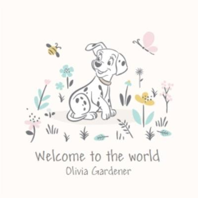 Disney Dalmatians Welcome To The World New Baby Girl Card