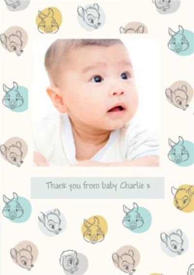 Disney Thumper Bambi Thank You From Baby Boy Photo Upload Card