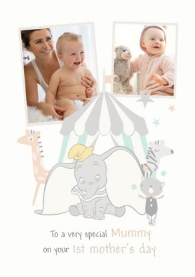Cute Disney Dumbo First Mother's Day Photo Upload Card