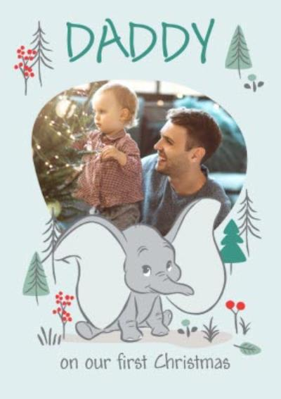 Cute Disney Dumbo Photo Upload First Christmas Card