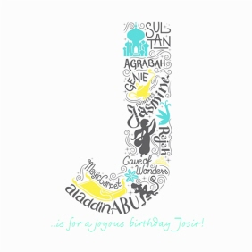 Disney Scribble Aladdin Personalised Text Card