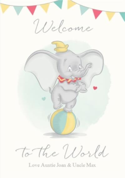 Dumbo Welcome New Baby Card