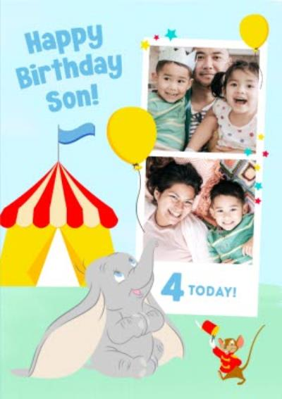 Disney Dumbo 4 Today Photo Upload Card for Son