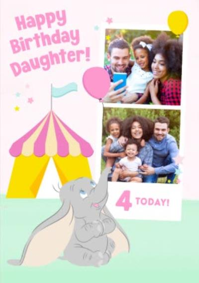 Disney Dumbo 4 Today Photo Upload Card for Daughter