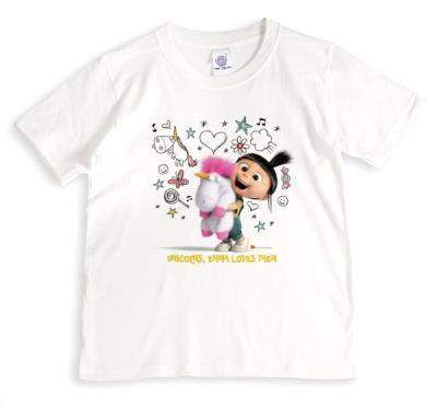 Despicable Me Unicorns Personalised Name T-Shirt