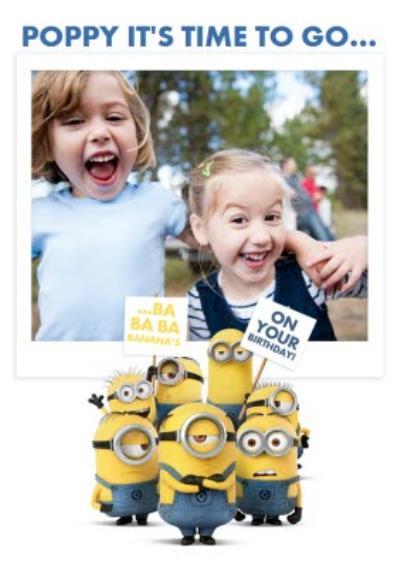 The Minions Birthday Photo Card